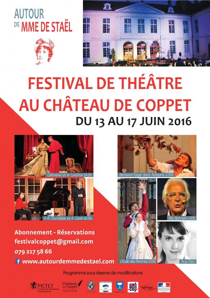 «Autour de Mme de Staël» / Festival de Théâtre / Château de Coppet