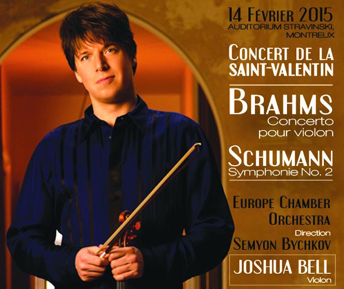 Concert // Joshua Bell // Auditorium Stravinski // 14 février