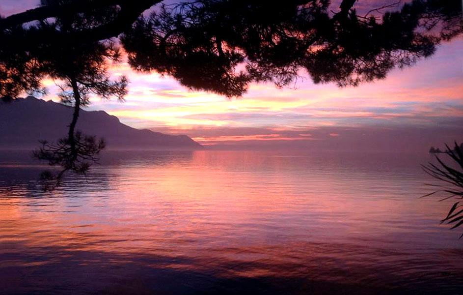 Montreux | Coucher de soleil sur le lac