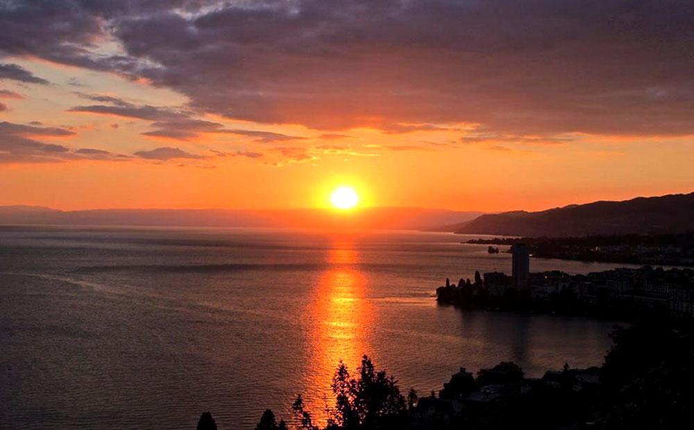 Montreux | Coucher de soleil sur le Léman
